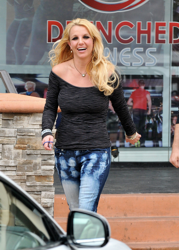Britney Spears is seen in good spirits while leaving a spa in Westlake VillageFeaturing: Britney Spears Where: Los Angeles, CA, United States When: 10 Feb 2013 Credit: JP/JFXimages/WENN.com