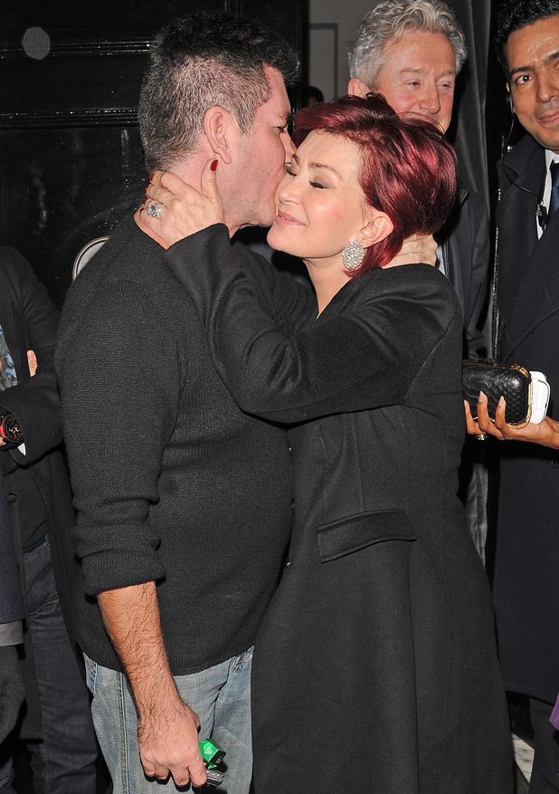 Simon Cowell and Sharon Osbourne