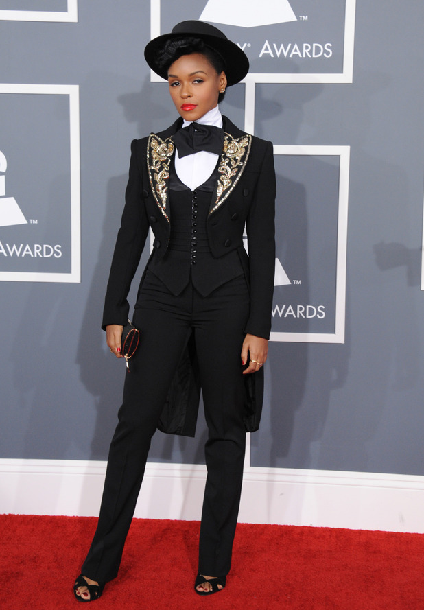 Grammy Awards 2013 red carpet: Janelle Monáe