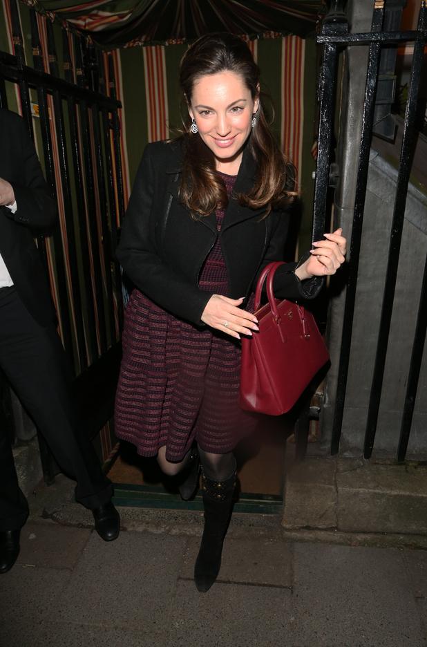 Kelly Brook leaving Annabel's private members club