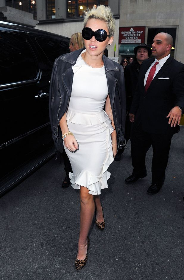 Miley Cyrus, Marchesa, New York Fashion Week 2013