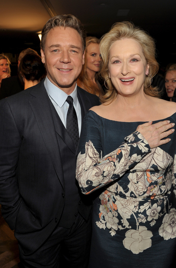 Russell Crowe and Meryl Streep
