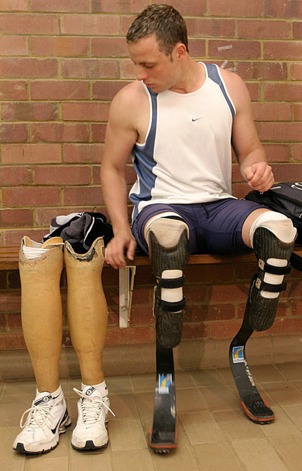 Oscar Pistorius, training session in Pretoria