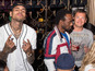 Sid Owen with Chris Brown - picture