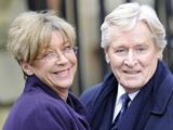 Anne Kirkbride and Bill Roache on set