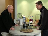 Jack explains to Max what he did to Phil and that he has to leave Walford.