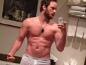 Zero Dark Thirty star Chris Pratt shirtless in tiny white boxers.