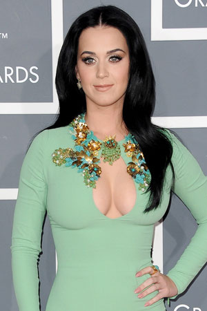 Katy Perry arrives at the 55th Annual GRAMMY Awards at Staples Center on February 10, 2013 in Los Angeles, California. Photo By Lionel Hahn/AbacaUsa.com