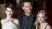 Hugh Jackman and the stars of Les Misérables at the world premiere in London
