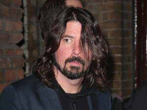 Rocker Dave Grohl leaving a special screening of his directorial debut 'Sound City Players'