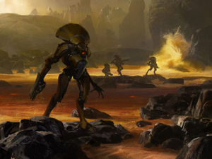 The first concept art for Bungie&#39;s new project, Destiny
