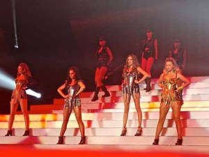 Girls Aloud performing live in concert on the opening night of their '10' tour at the Metroradio Arena Featuring: Girls Aloud,Sarah Harding,Cheryl Cole,Kimberley Walsh,Nicola Roberts,Nadine Coyle Where: England, United Kingdom When: 21 Feb 2013 Credit: WENN.com