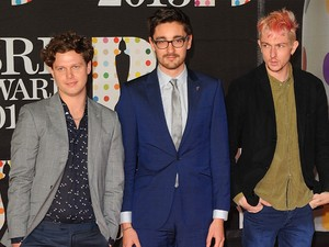 Alt-J arriving for the 2013 Brit Awards at the O2 Arena, London