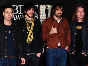 The Vaccines arriving for the 2013 Brit Awards at the O2 Arena, London