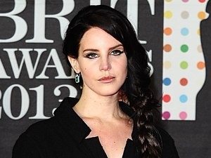 Lana Del Rey arriving for the 2013 Brit Awards at the O2 Arena, London