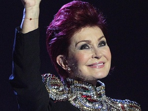 Sharon Osbourne arrives to announce the winner of the &#39;international female&#39; award at the Brits 2013