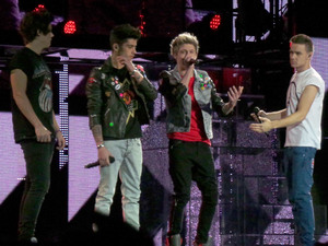 The boys perform one of their hits.