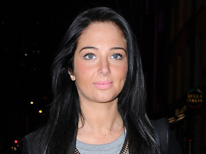 Tulisa Contostavlos arrives at the San Carlos Restaurant, Manchester