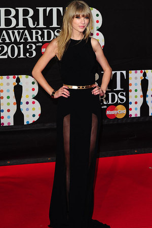 Taylor Swift at the Brit Awards in 2013