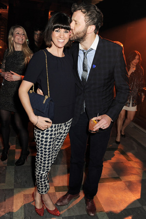 Dawn Porter and Chris O'Dowd at the Universal Brit after party