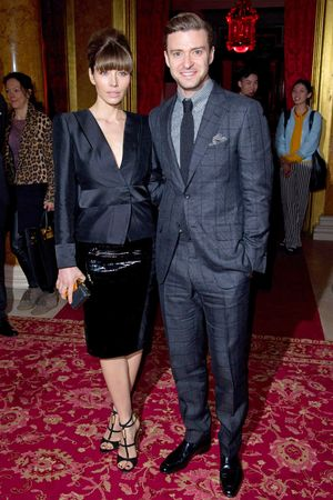 Jessica Biel, Justin Timberlake, Tom Ford, Autumn Winter 2013, London Fashion Week