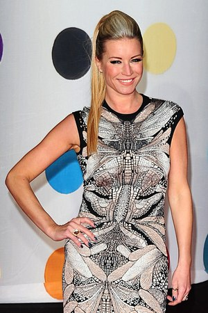 Denise Van Outen arriving for the 2013 Brit Awards at the O2 Arena, London