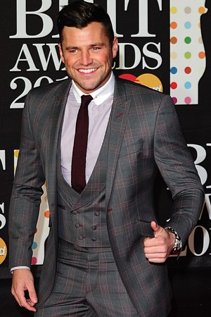Mark Wright arriving for the 2013 Brit Awards at the O2 Arena, London