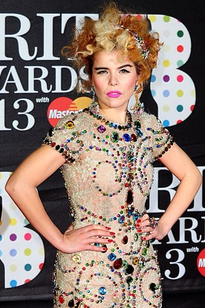 Paloma Faith arriving for the 2013 Brit Awards at the O2 Arena, London
