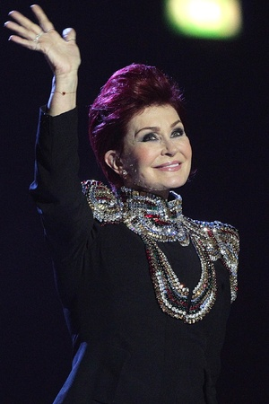 Sharon Osbourne arrives to announce the winner of the 'international female' award at the Brits 2013