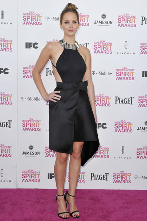 Jennifer Lawrence attends the Film Independent Spirit Awards.