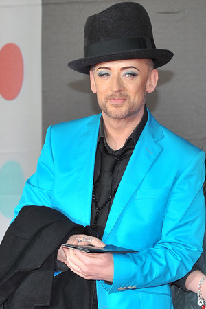 The 2013 Brit Awards (Brits) held at the O2 arena - ArrivalsFeaturing: Boy George Where: London, United Kingdom When: 20 Feb 2013 Credit: Daniel Deme/WENN.com