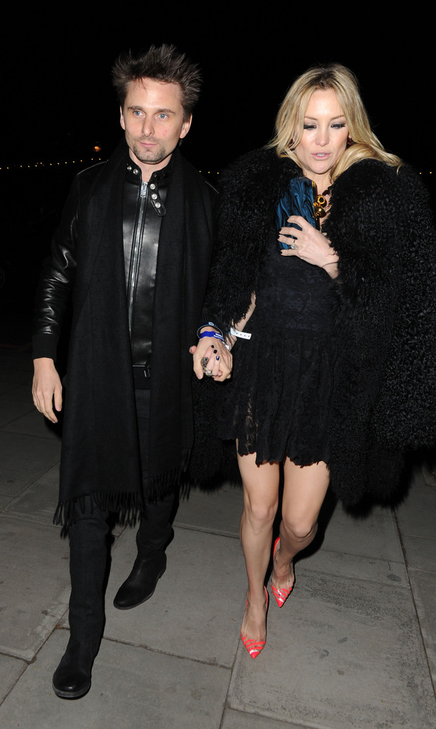 Matthew Bellamy, Kate Hudson, Warner Brothers party
