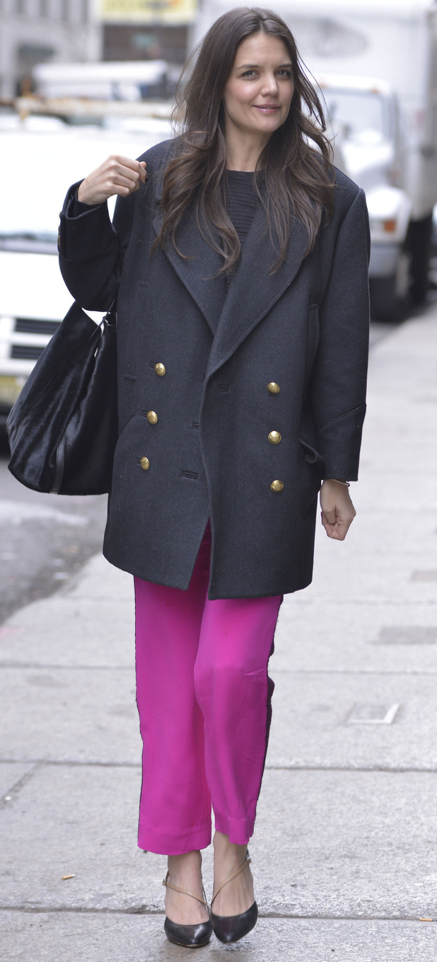 Katie Holmes out and about in New York.