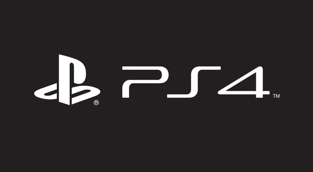 Black-and-white PS4 logo