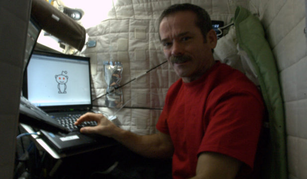 Chris Hadfield during his live Reddit chat