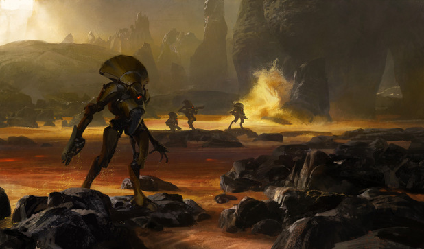 The first concept art for Bungie's new project, Destiny