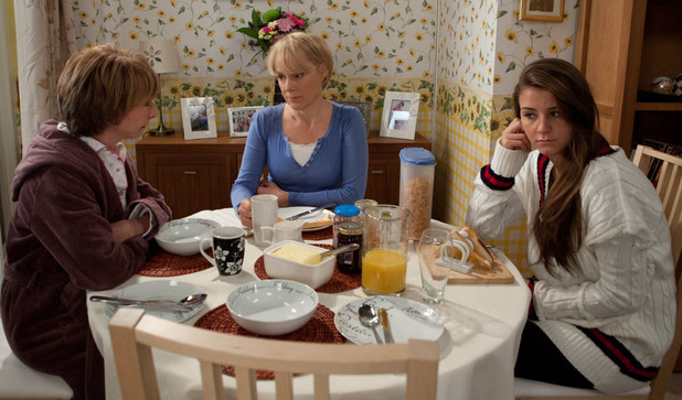 Sophie is not pleased Gail is staying with her and Sally