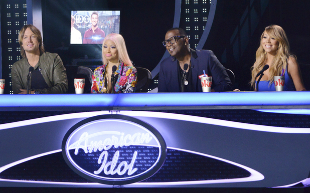 American Idol: Judges Nicki Minaj, Keith Urban, Mariah Carey and Randy Jackson.
