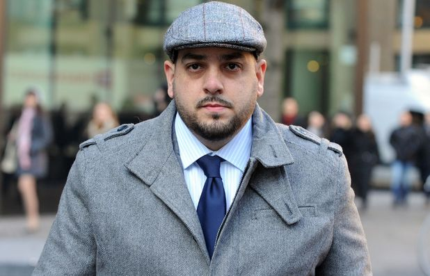 Derek Rose, the ex-fiance of Tamara Ecclestone, arrives at Southwark Crown Court