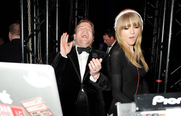 James Corden, Taylor Swift, Universal Music Brits Party Hosted By Bacardi At The Soho House