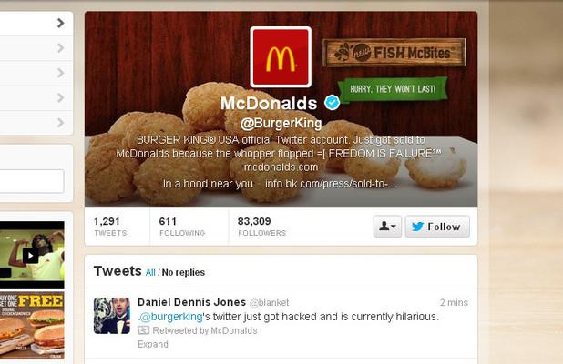 Burger King Twitter feed