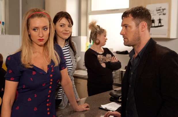 Eva argues with Tracy at work and Rob sacks her