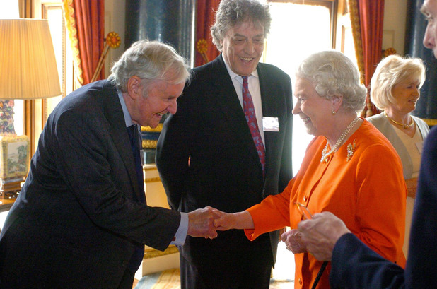 Queen Elizabeth II meets Richard Briers