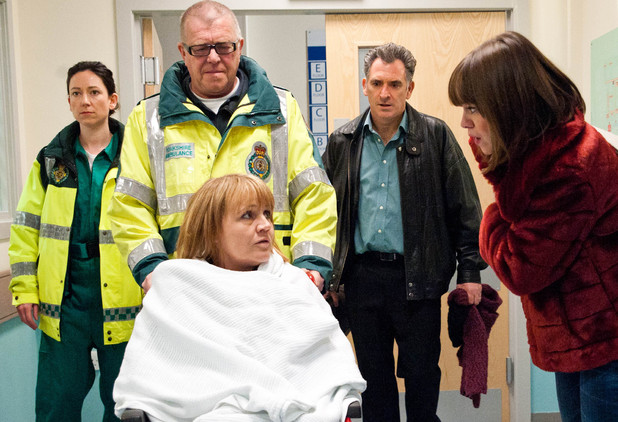 6489: Brenda is still confused as she is brought into A&E and Gennie is shocked to see her there