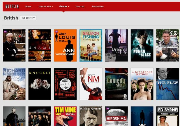 Netflix subscription page