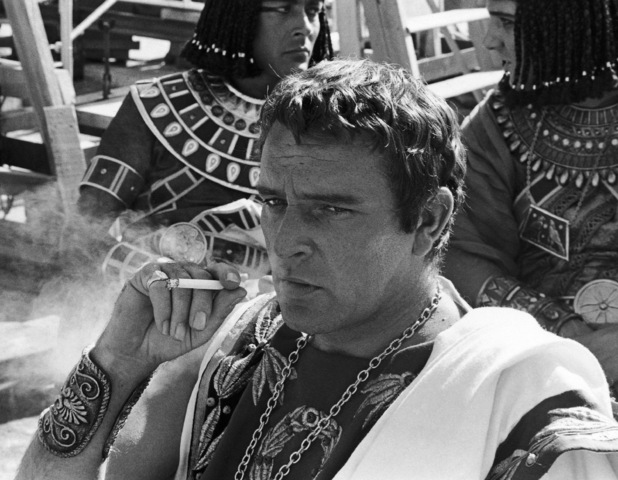 Richard Burton on the set of 'Cleopatra'