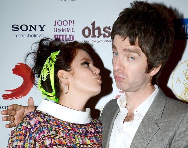 Lily Allen and Noel Gallagher