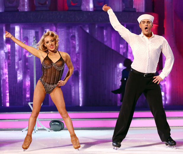Dancing on Ice: Matt Lapinskas and Brianne Delacourt perform.