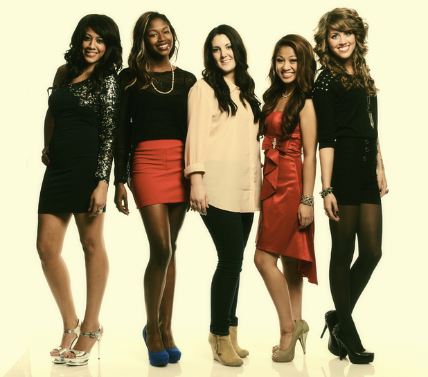 American Idol season 12 semi-finalists Tenna Torres, Amber Holcomb, Kree Harrison, Adriana Latonio and Angela Miller