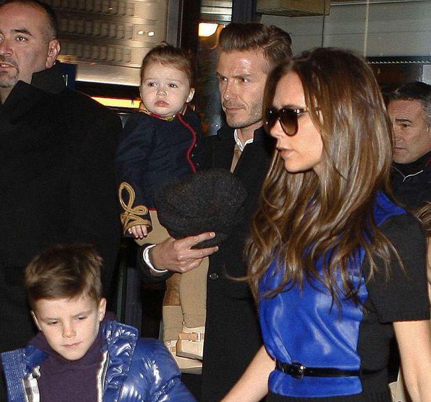 Victoria Beckham, David Beckham, Harper, Cruz